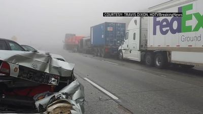 Multi-vehicle crash snarls California freeway