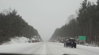 Time Lapse: Snowy roads in New England