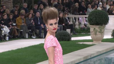 Lagerfeld absent for Chanel haute couture show in Paris
