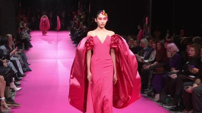 Alexis Mabille's rainbow splashes into Paris