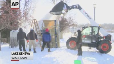 Extreme cold forces snow sculpting delay