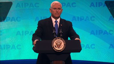Pence cheers Mueller findings, hits Dems at AIPAC