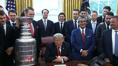 Trump hosts Stanley Cup champs at White House