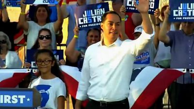 2020 hopeful Castro holds Trump counter rally