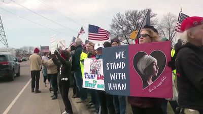 Supporters of Omar and Trump face off in Minnesota