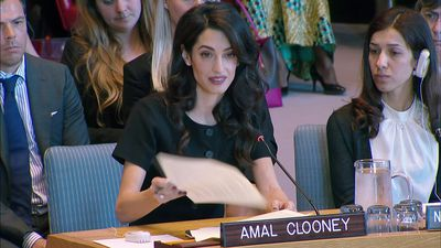 Clooney urges justice for ISIS sexual violence