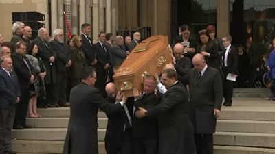 UK, Irish leaders attend funeral of slain journalist