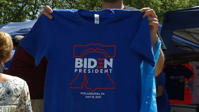Positive message resonates with Biden supporters
