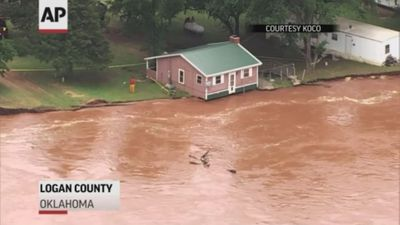 River erosion threatens Oklahoma homes
