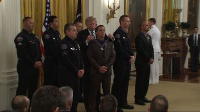 Trump honors officers with Medal of Valor awards