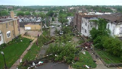 Crews converge on neighborhood struck by tornado