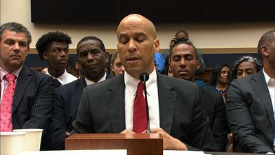 Booker speaks at panel on reparations for slavery