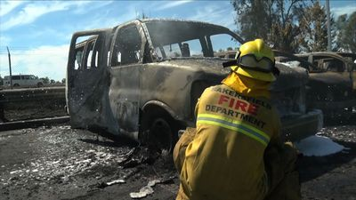 California fire burns 86 cars in dealership lot