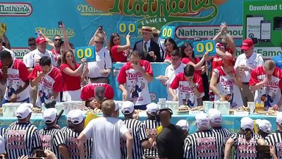Joey 'Jaws' Chestnut eats 71 hot dogs for win