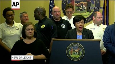 New Orleans Mayor: city 'spared' by storm