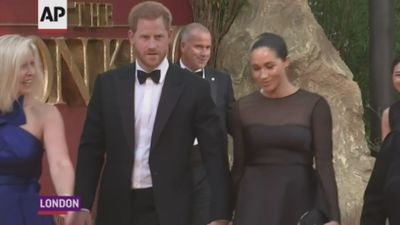 Stars react to royals Meghan and Harry at 'The Lion King' premiere