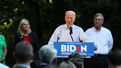 Joe Biden defends Obamacare, attacks Trump