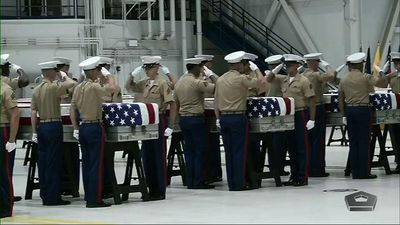 Possible WWII remains returned to U.S.