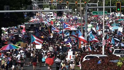 Puerto Ricans gather for protest to expel governor