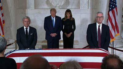 Trump pays respects to late Justice Stevens