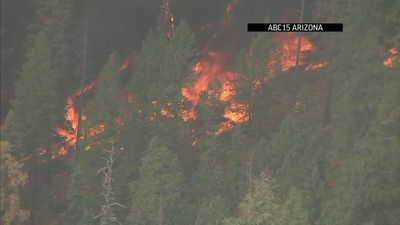 Air and ground crews battle Arizona wildfire