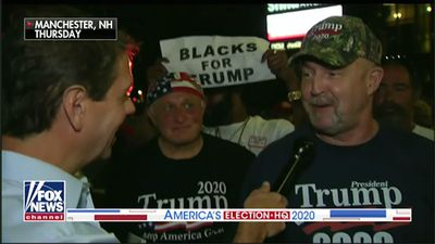Mocked Trump supporter laughs it off after rally