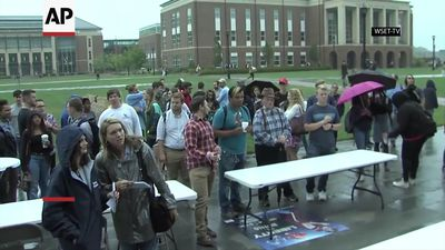 Liberty University students protest on campus