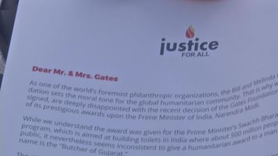 Petition urges Gates to not honor India PM Modi