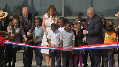First lady cuts ribbon at Washington Monument