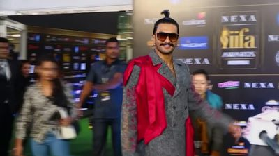 Stars arriive at the IIFA Awards, Bollywood's equivalent of Hollywood's Oscars