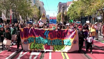 Students, activists march to demand climate action