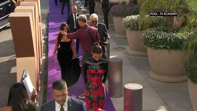 Kardashian West, Jenner, Paltrow arrive at Emmy Awards