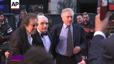 Scorsese premieres 'Irishman' in London, looks forward to dinner
