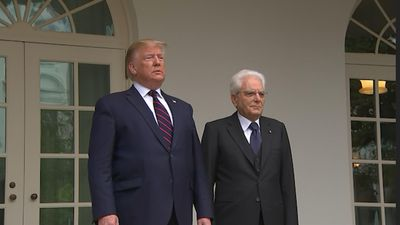 Trump hosts Italy's president at the White House