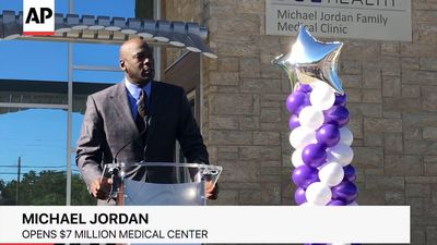 Michael Jordan Unveils Clinic He Funded