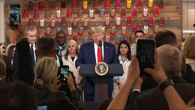 Trump tours Louis Vuitton workshop ahead of rally