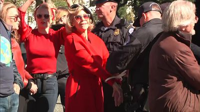 Fonda, Waterston arrested in climate protests
