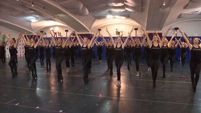 Rockettes rehearse for 'Christmas Spectacular'