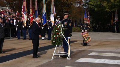 Pence honors Veterans at Arlington Cemetery