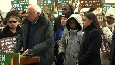 Sanders, Ocasio-Cortez push 'green' public housing