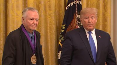 Trump awards medals to Jon Voight, Alison Krauss