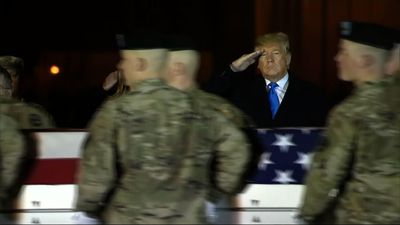 Trump pays respects to two killed in Afghanistan