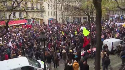 French unions launch chaotic nationwide strikes