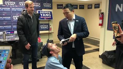 Andrew Yang able to balance fun, serious message