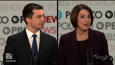 Klobuchar, Buttigieg battle over who can win