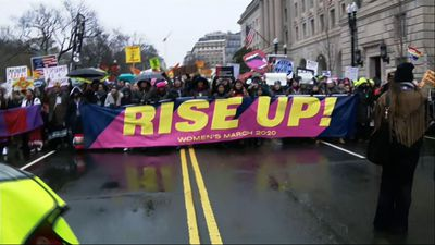 DC Protesters 'rise up' as part of Women's March