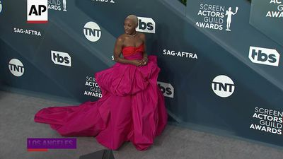 Hot, pale, dusky - pink was all the rage at the SAGs