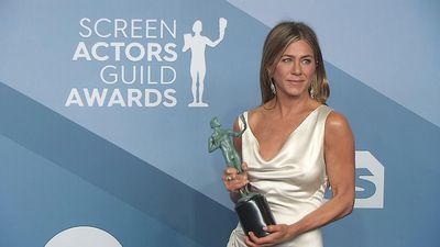 Aniston on SAG win: 'I did not see that coming at all'