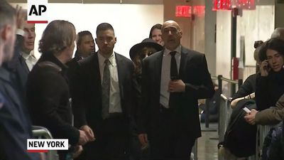 Rosie Perez arrives at court for Weinstein trial