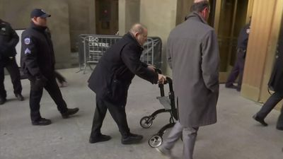 Harvey Weinstein arrives at court